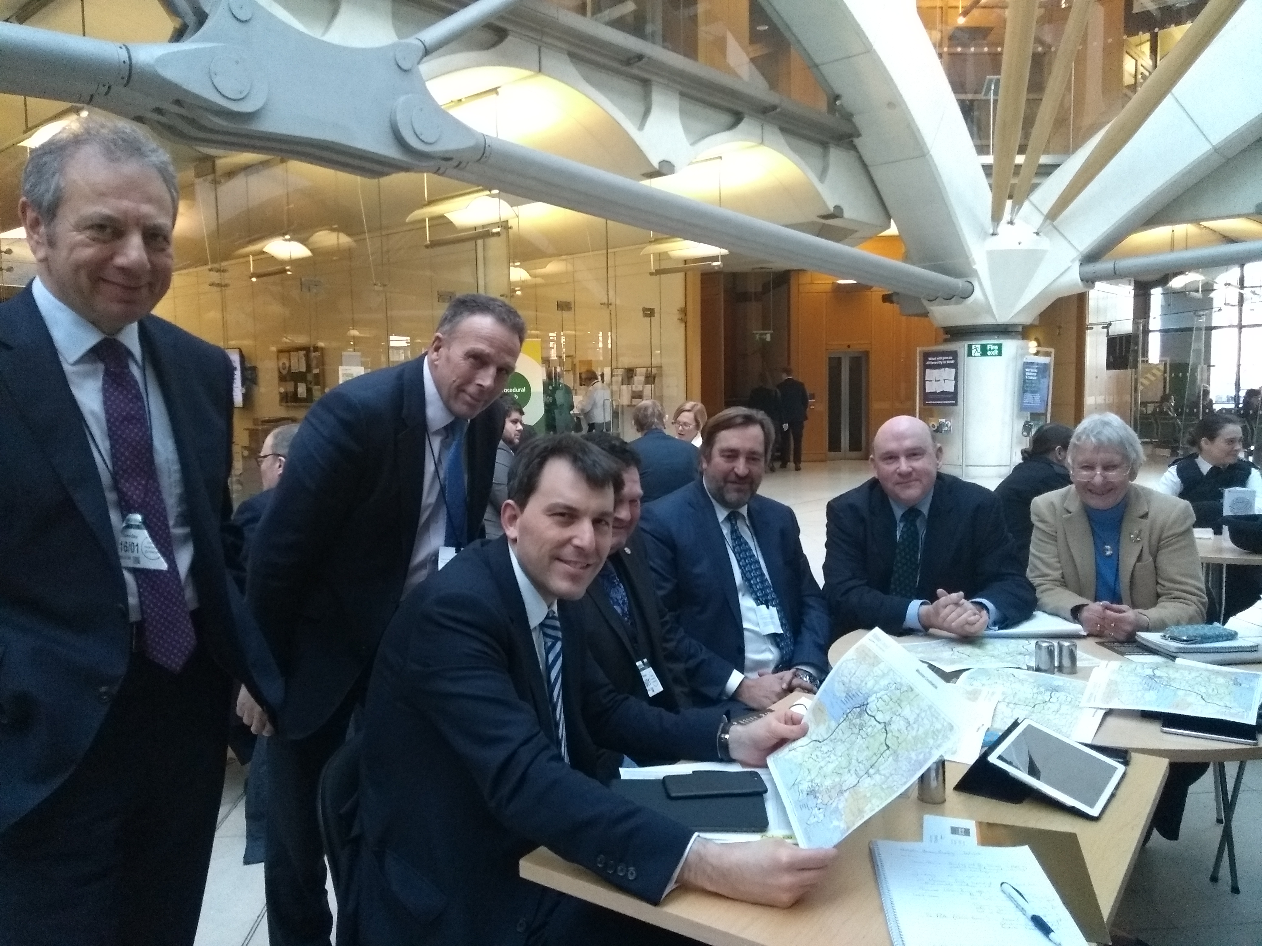 With South West council leaders at Portcullis House in London to lobby Ministers about the North South connectivity improvements.