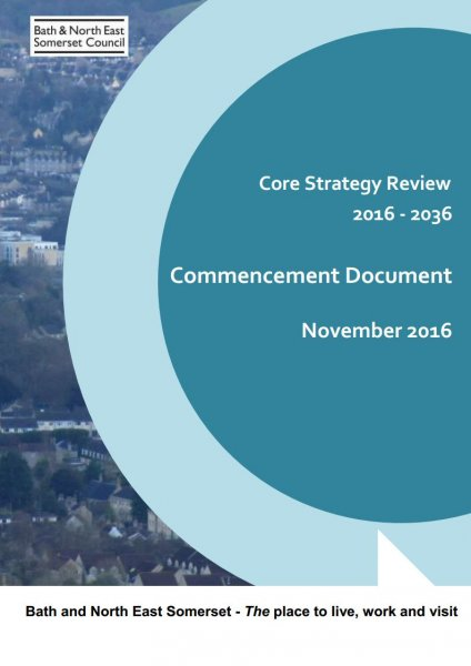 The cover of the Core Strategy Review Commencement Document