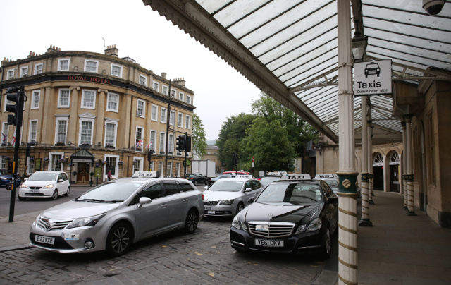 taxi rank outside Bath Spa Station