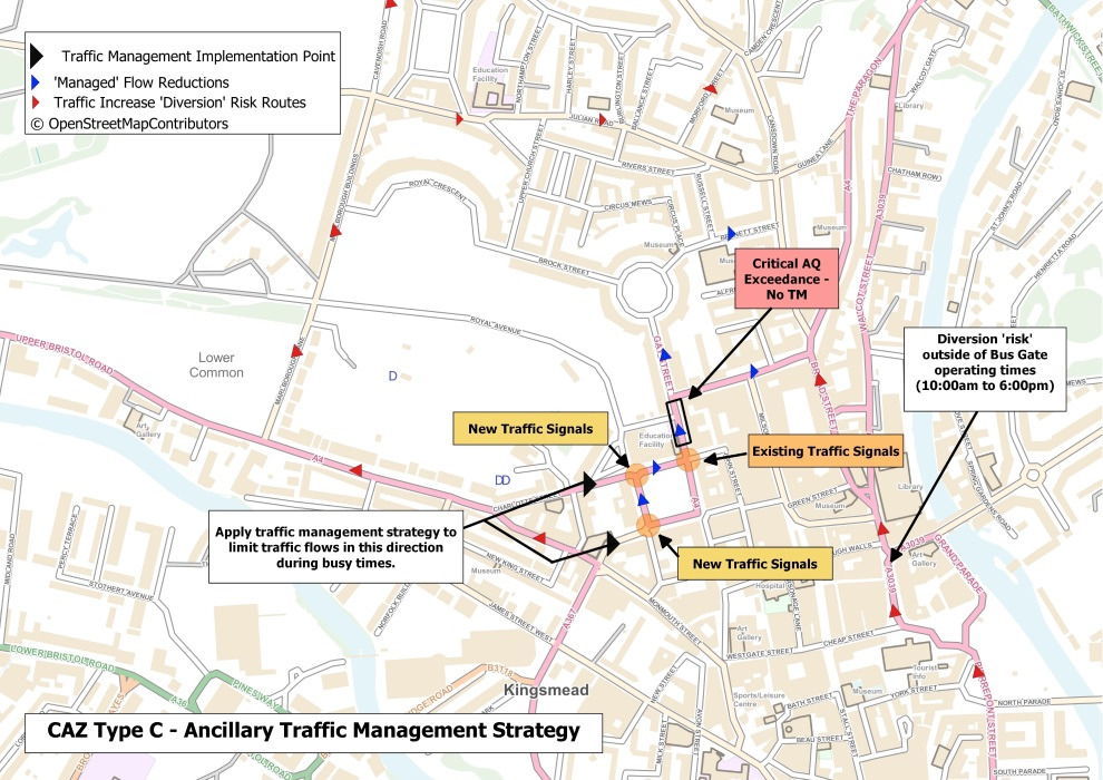 how will traffic be managed at Queen Square