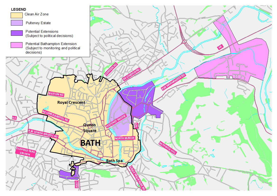 what areas of bath will be included in the zone