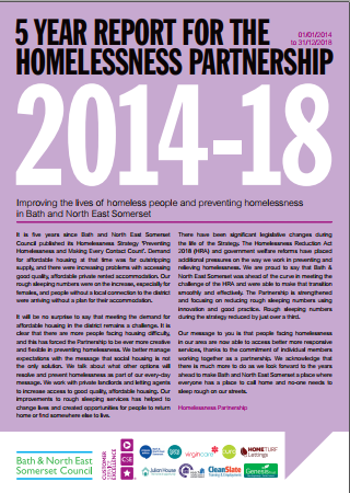 Homelessness Partnership Report 2014-18