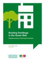 Existing Dwellings in the Green Belt Supplementary Planning Document