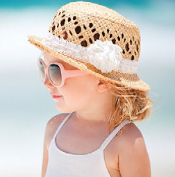 Young girl with sun hat