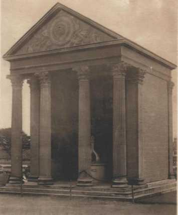 Early photo of the Temple of Minerva