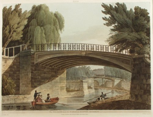 Bridges over the canal in Sydney Gardens c.1800 Nattes