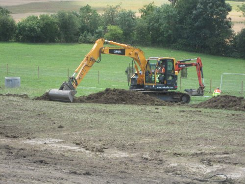 Kelston Road topsoil being stripped and stored for reuse