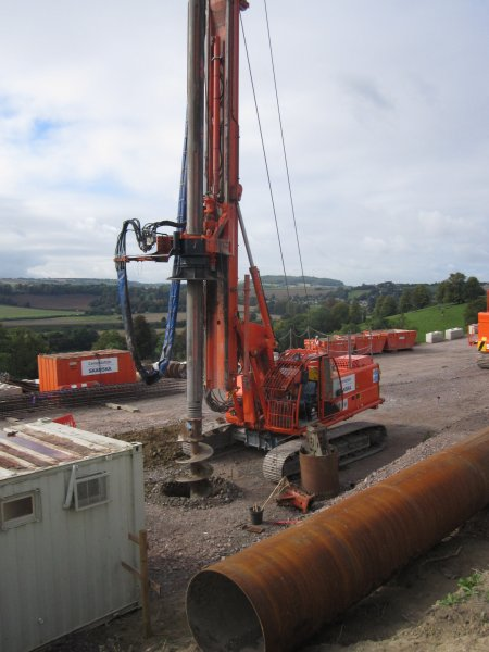 Drilling rig has been moved into position and is up and running