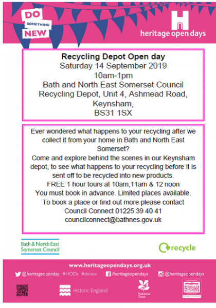 Recycling depot open day
