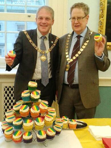 The Mayor and the Chair at LGBT History month event