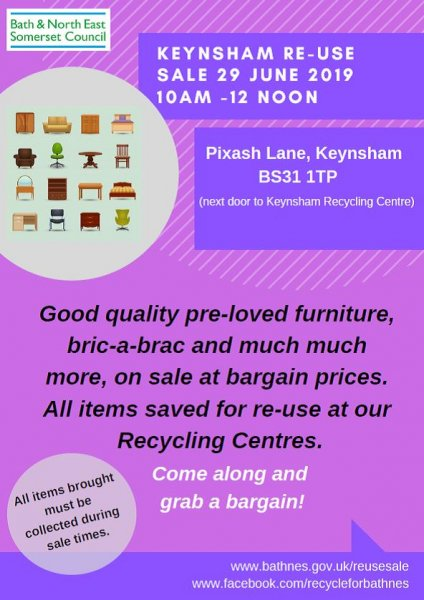 Keynsham re-use sale 2019