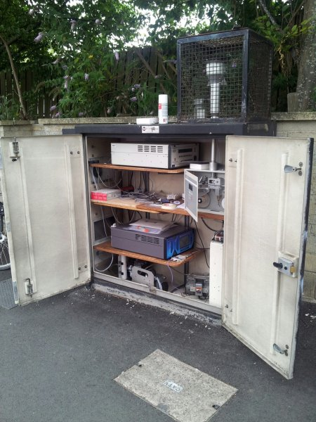 Monitoring enclosure at Lower Bristol Road nr Windsor Bridge
