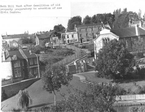 Bath Hill West after demolition for new civic centre