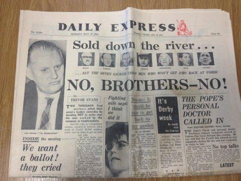Daily Express newspaper - May 27th 1963