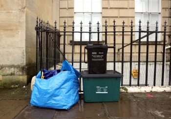 Image of recycling containers