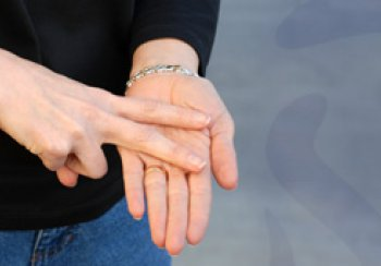 Photograph of hands using British Sign Language