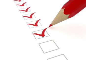 pencil ticking boxes on a checklist