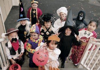 children in fancy dress clothes