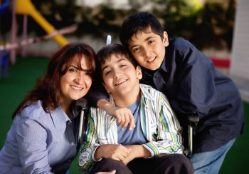 family with a disabled child