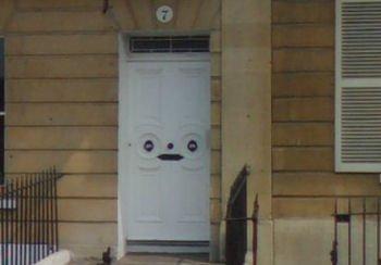 A front door of a property