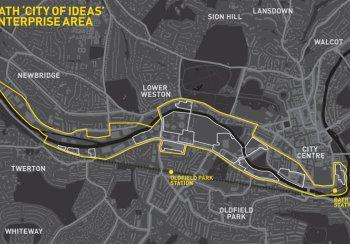 Bath City of Ideas Enterprise Area map