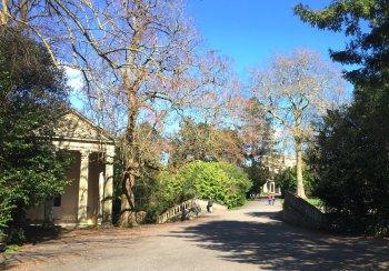 Sydney Gardens Bath, view up to Loggia