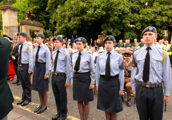Cadets on parade at WW1 Centenary Civic Event, 4 August 2014