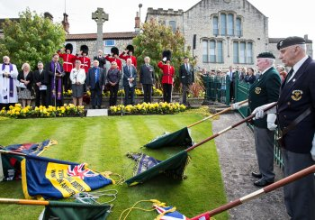 Image: ceremony in Paulton to unveil commemorative paving stone