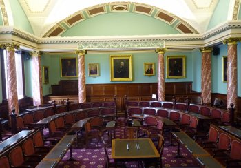 The Council Chamber at the Guildhall