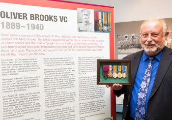 Image: Peter Brooks, grandson of Oliver Brooks VC at 'WW1 Remembered'