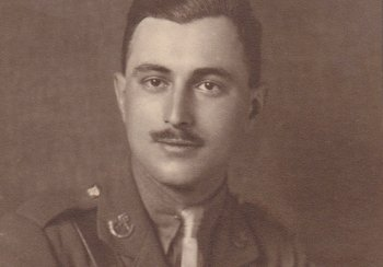 Image: photograph of 2nd Lt. Philip James Hudson in military uniform