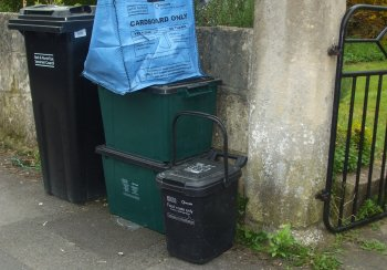 Image of recycling and rubbish presentation
