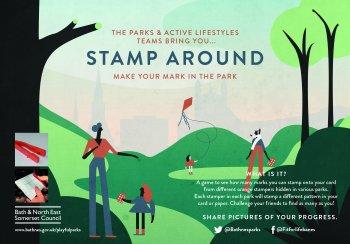 Stamp Around Poster