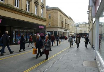 Newly paved Stall Street