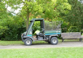 maintenance truck in park