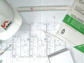 Building Control, plans, hard hat, documents