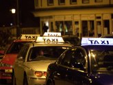 Taxis in queue