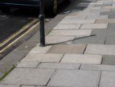 A slabbed footway