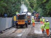 Roadworks in Bath