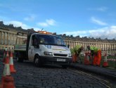 roadworks in royal crescent