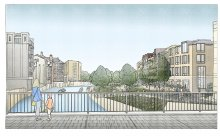 Image: artist impression of Bath Quays North