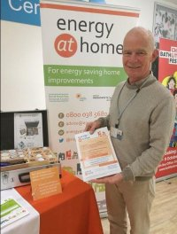 Bath & North East Somerset Council's Energy at Home Advice Service advisor at Bath Central Library